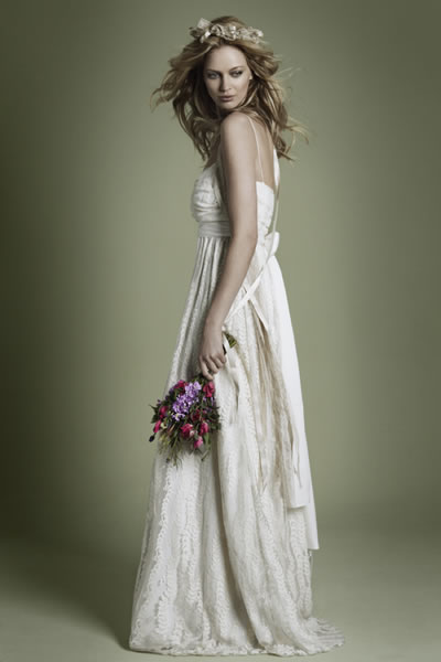 lace wedding dresses uk. Their 1970s style lace dress